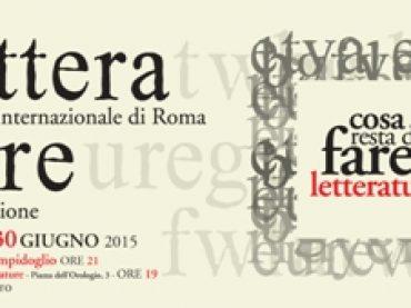 Al via la XIV edizione di Letterature Festival Internazionale di Roma