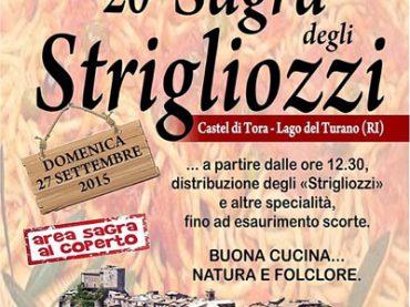 Rieti. Strigliozzi: la storia di una sagra a Castel di Tora – 27 settembre