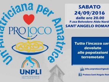 Sant'Angelo Romano. Una amatriciana per Amatrice