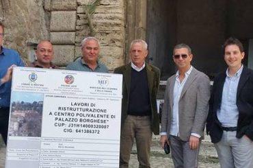 Mentana. Ricominciati i lavori di ristrutturazione dello storico Palazzo Borghese