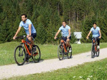 La S.S. Lazio in bici ad Auronzo verso il Mondiale di MTB 2018