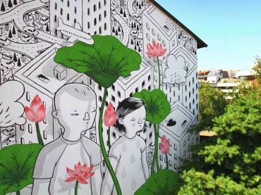 Monterotondo. La Cooperativa Sociale Folias porta la street art di Millo a Il Cantiere