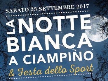 Ciampino. 23 settembre: Notte Bianca e Festa dello Sport