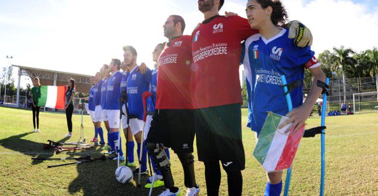 La Nazionale Calcio Amputati in Turchia per l'Europeo