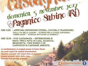 """Rieti. Paganico Sabino riscopre il suo passato contadino con la """"Castagnata"""""""