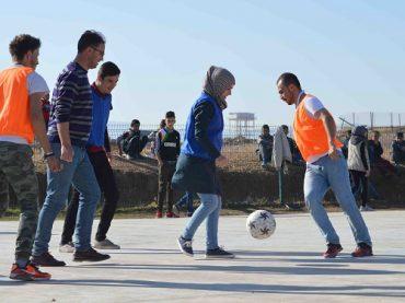Nel Campo rifugiati di Arbat un torneo di calcio a squadre miste per la coesione, la pace e l'integrazione
