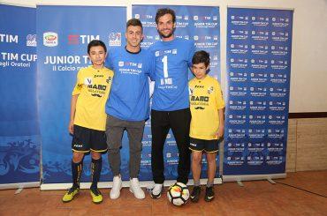 A Roma Stephan El Shaarawy e Marco Parolo hanno incontrato i ragazzi della Junior TIM Cup