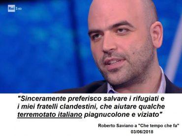 La bufala delle dichiarazione di Saviano su rifugiati e terremotati