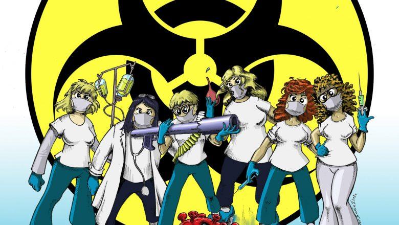 Eroi della pandemia: un'illustrazione in loro omaggio
